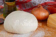 Итальянское дрожжевое тесто для пиццы.