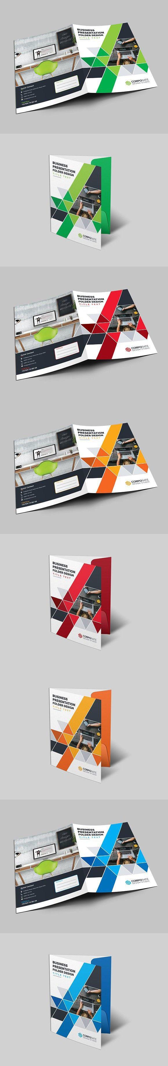 Corporate Folder. Stationery Templates