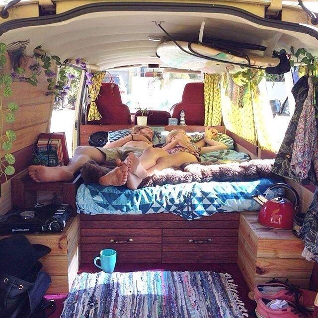 """Sneaky midday van naps at Brunswick on the weekend with my numero uno. Sneak shot compliments of Samuel."" Photo @danielspencer_ #vanlifers #vanlife #vanlifediaries"