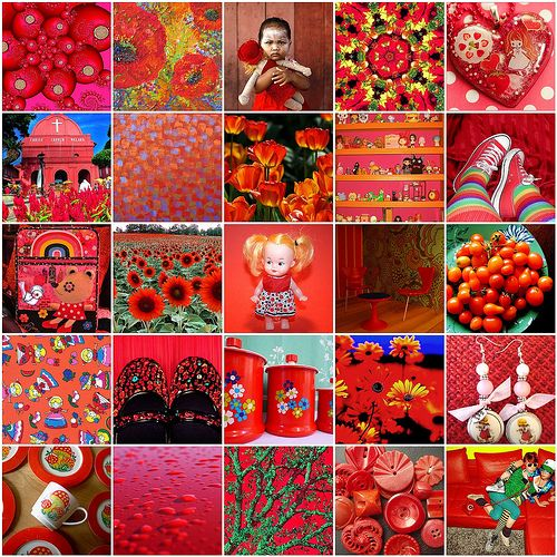The color red is linked to the spine, hips and legs, plus the kidneys and the bladder. It is a warm, stimulating color and thought to strengthen willpower and courage. It also helps raise low blood pressure and energize people. It's used to decorate active areas because it increases the appetite and boosts energy.  Red is also associated with passion.