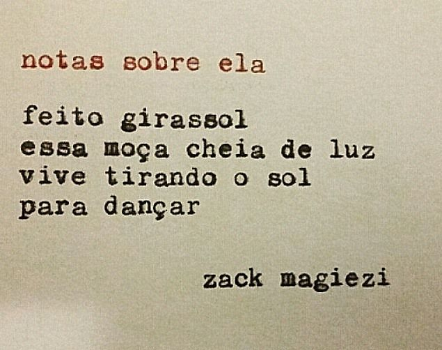 "As ""Notas sobre ela"" do Zack Magiezi"