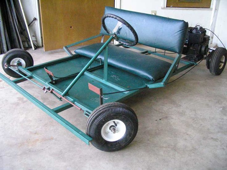 DIY two-seater go cart.