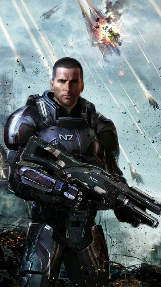 Mass Effect - People are like all about Male or Female Shepard, but to be honest, I'm just all about Commander SHEPARD. I love this trilogy.
