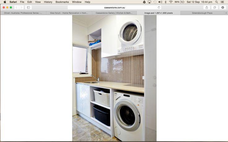 shelves for laundry baskets