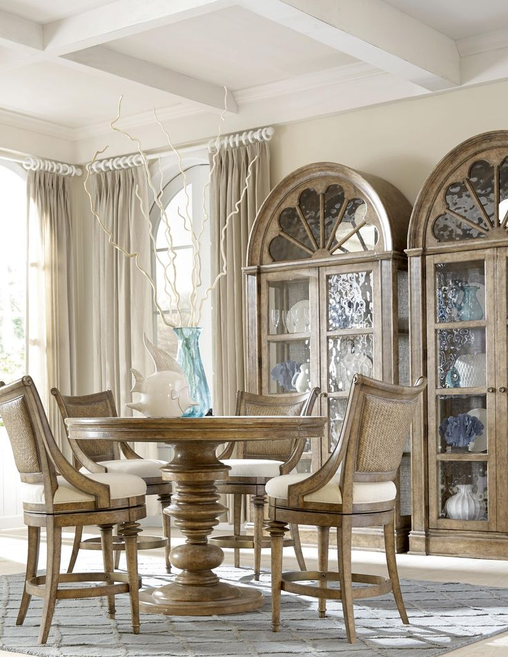 Provide space for entertaining by using the included table leaves in your dining table. Keep the leaves in all the time if you need a larger table or only use them when you have guests over.