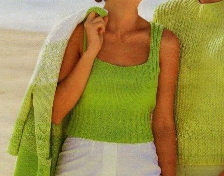 Lavori a maglia: crea un semplice top a punto coste