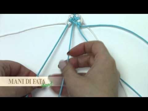 MACRAMÈ - braccialetto azzurro e bianco - YouTube