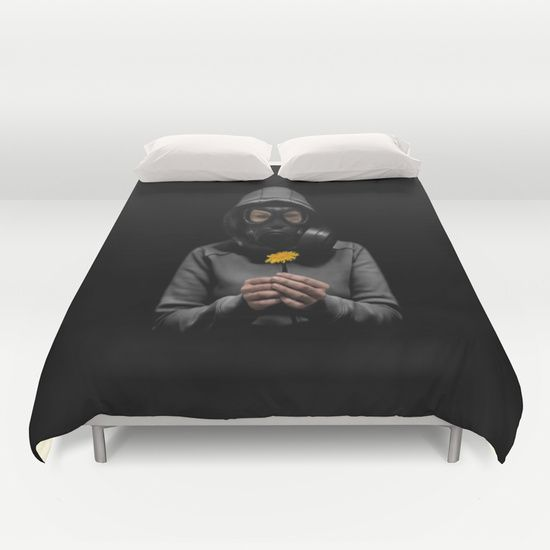 #gasmask #apocalypse #dandelion #post-apocalyptic #girl #duvet #cover #duvetcover #homedecor #bedroom