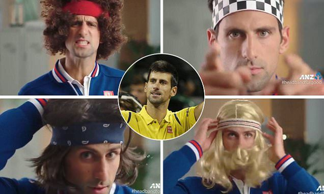 Novak Djokovic impersonates tennis legends in #HeadbandForGood ad  #DailyMail