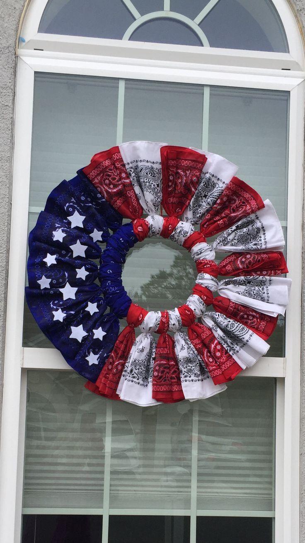Bandana Wreath - JoAnn   Jo-Ann  Bandana Wreath Directions
