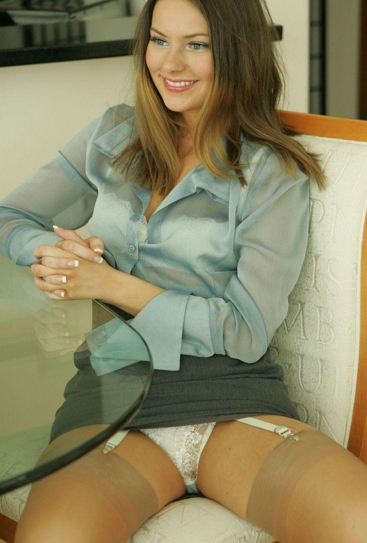 Stockings Teen In Panties White 110