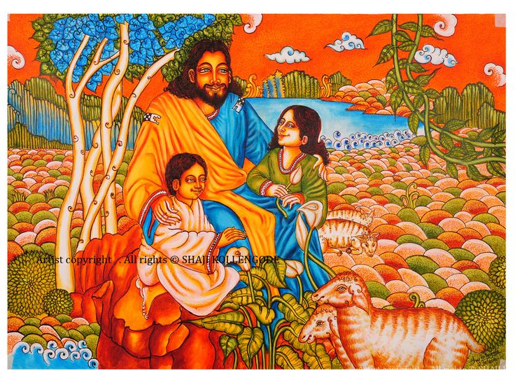 The 852 best images about kerala mural art on pinterest for Asha mural painting