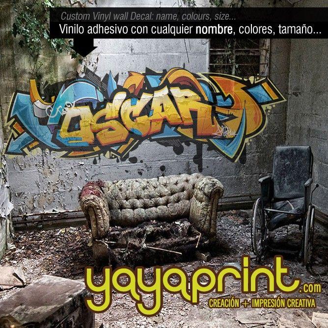 graffiti nombre hugo decoracin habitacin graffiti de nombre pared habitacin cuarto dormitorio juvenil
