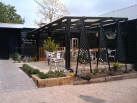 The Bee Shed Coffee House    Great new coffee shop in Essex - at a farm shop which also has tractor toys and animals to keep the kids entertained.
