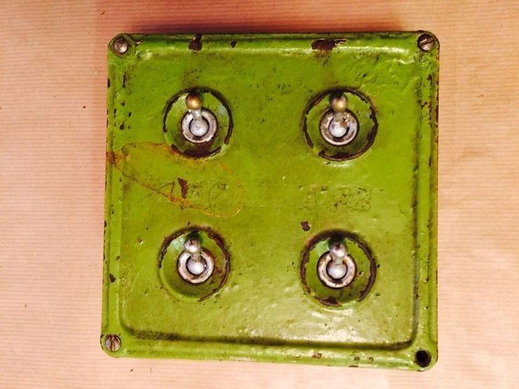Britmac Vintage Industrial 4Gang Light Switch | eBay
