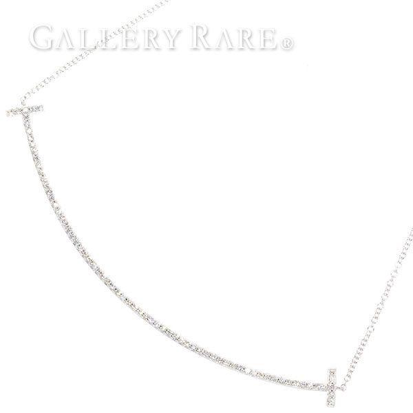 ティファニー ネックレス Tスマイル ペンダント ダイヤモンド K18WGホワイトゴールド TIFFANY ジュエリー ダイアモンド