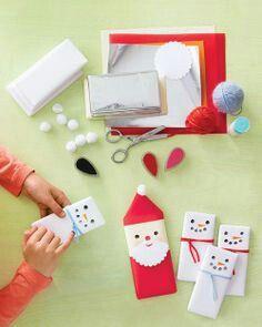 Santa's and snowmen king size candy bars