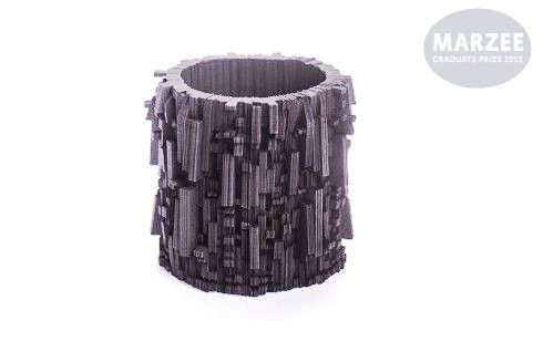 MARZEE -  graduation show 2015 -  Genevieve Howard    black 'Ravel' statement bangle