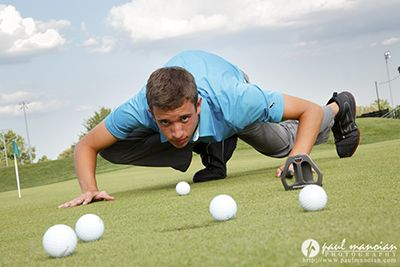 Golf Senior Pictures-not sure why but I kind of find this pic funny