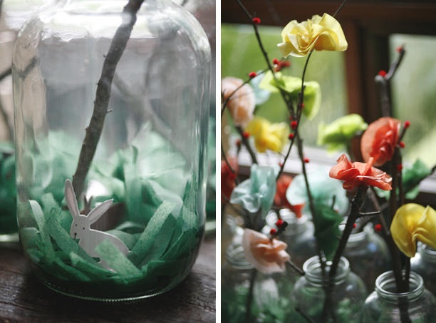 paper flowers: Flowers Bloom, Ideas Wedding, Hands Made, Wedding Ideas, Tissue Paper Flowers, Glasses Jars, Photo, Anna Bond, Branches