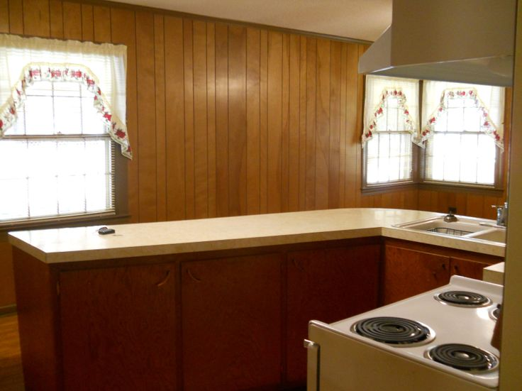 painting wood paneling amazing transformation great before after work in progress - Kitchen Paneling Ideas