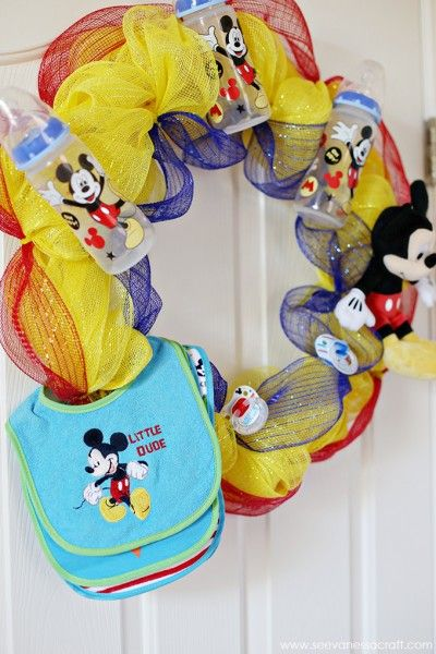 Disney Baby Mickey Mouse Baby Shower Wreath