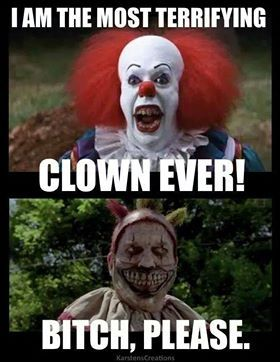 Pennywise from IT vs. American Horror Story clown