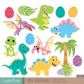 Dinosaurio lindo gráfico Digital por LittleMoss en Etsy