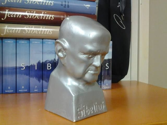 Sibelius sculpture in Allmark office, Helsinki.