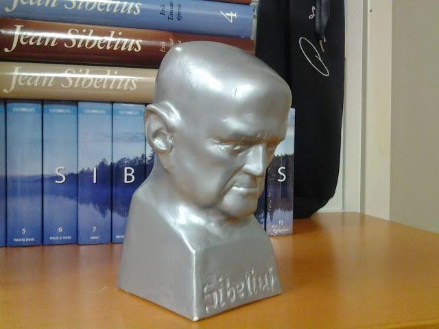 Sibelius sculpture in Allmark office, Helsinki.
