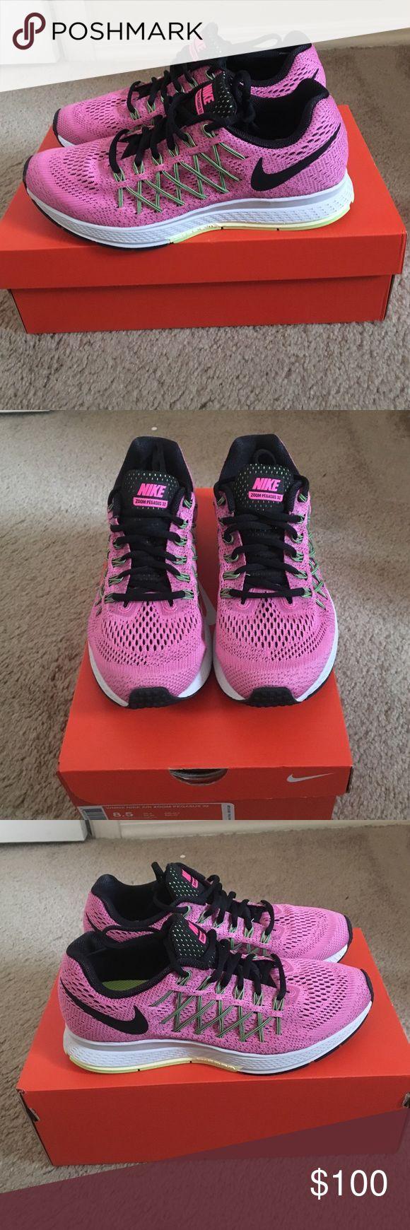 BRAND NEW NEVER WORN Women's Nike Zoom Pegasus 32 These are brand new, never worn, women's pink Nike Zoom Pegasus 32 size 8.5. Brand new with box. Nike Shoes Sneakers