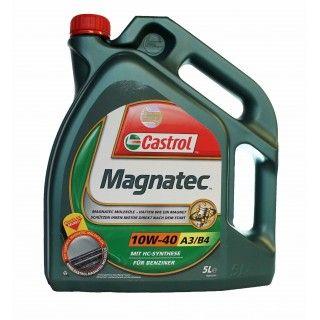 Castrol Magnatec 10W-40 A3/B4 motorolja  Upp till 75% av motorslitagen sker under uppvärmning av motor. När motor stannar droppar oljan normalt av viktiga motordelar. Det gör däremot inte Castrol Magnatec intelligenta molekyler. Dem håller sig fast på