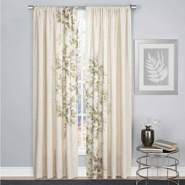 1888 Mills Hamilton Leaf Curtain ($30) ❤ liked on Polyvore featuring home, home decor, window treatments, curtains, green, leaf pattern curtains, tropical curtains, rod pocket curtains, patterned curtains and tropical home decor