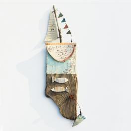 love to sail - driftwood art