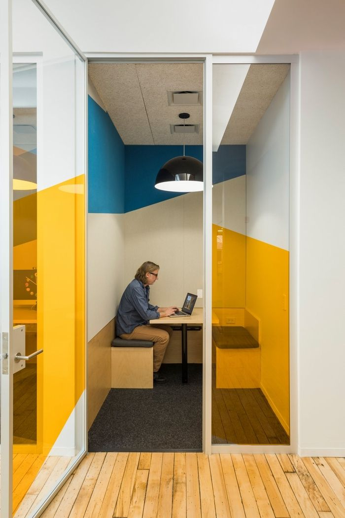 Snøhetta has designed the new offices of workplace software company Slack, located in New York City, New York.