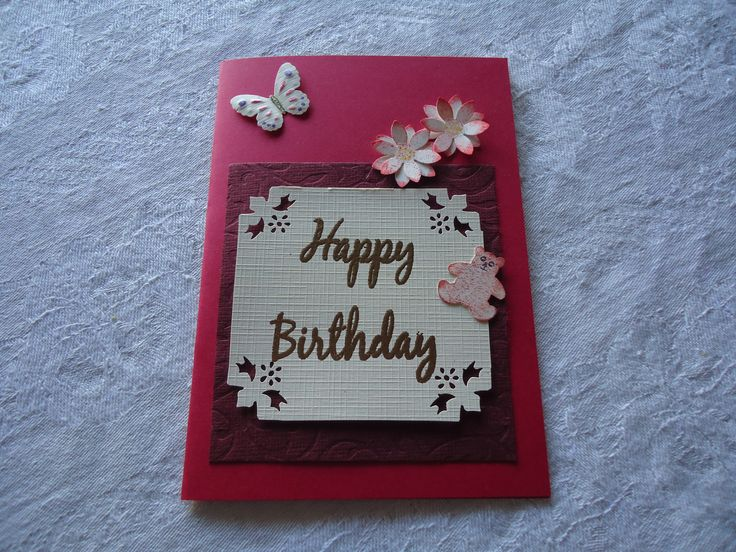 card with flowers made from  3 punches