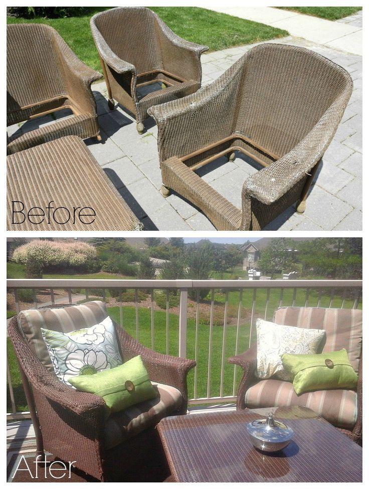 furniture repurposed. wicker makeover janu0027s patio furniture repurposed