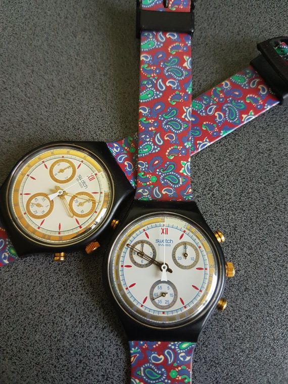 1991-1992 SWATCH WATCH CLASSIC CHRONO AWARD SCB108 Price : 149$ / Watch. There are 2 listed. You will only get one, if you order!   Condition: 99% NEW, Never Worn This watch is Part of a 200 Swtach Collection! Unique & Rare Models Check my other Swatch section for more models:  https://www.etsy.com/shop/InstaAntiques?ref=l2-shopheader-name&section_id=20319988    Beautiful Swatch Watch, new in the box, has never been worn. Award. I imagine the batteri...