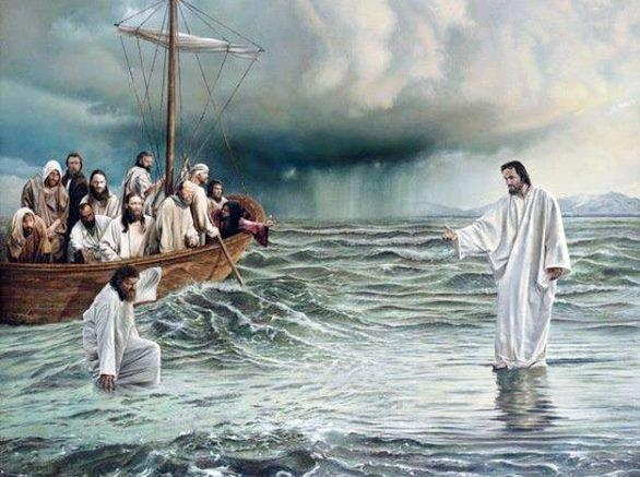"""Lord, if it is You, tell me to come to you on the water.""  ""Come,"" He said.  Then Peter got down out of the boat and came toward Jesus ....Matthew 14: 28, 29"