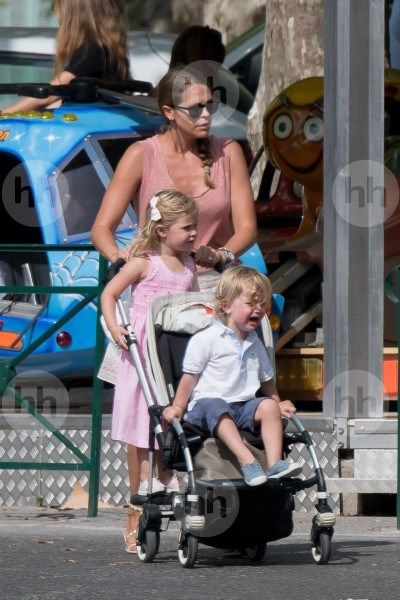 June 2017 - Princess Madeleine and her children on holiday in Côte d'Azur with Princess Sofia, Prince Carl Philip and their son