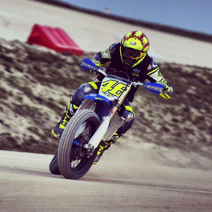 #ValentinoRossi Valentino Rossi: Winter training at MotoRanch 1)Flat Track #yamahayz450f Shot by @camilss