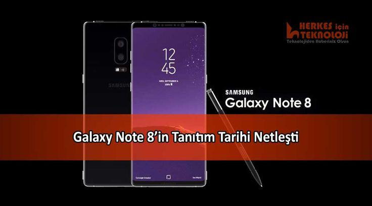 Samsung'un merakla beklenen yeni phableti Galaxy Note 8'in tanıtım tarihi nihayet netleşti. Şimdiye kadar ortaya çıkan özellikleri ve tanıtım tarihi...