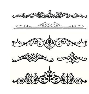 Header Ornament Vector 187115 By Vectormikes On Vectorstock 174 Kvietimai