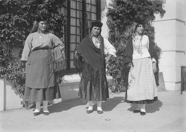 Exibição de trajes regionais portugueses 1927