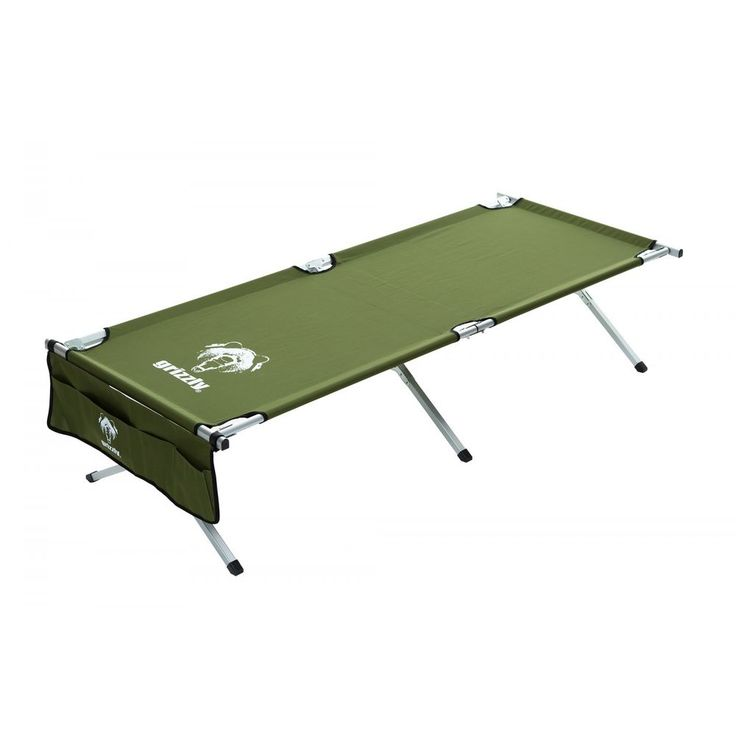 "Grizzly Sleeping and Camping Cot, 83"" x 35"", Green, Folding #Grizzly"