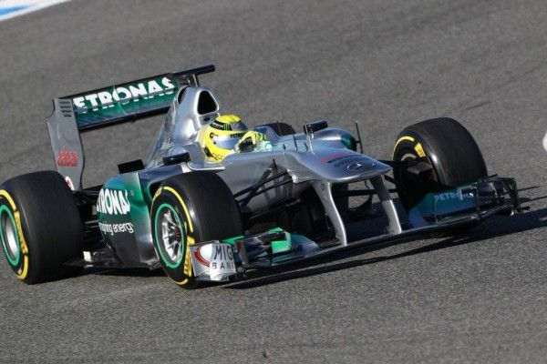 Nico Rosberg tested MGP W02 race car in the morning session at Jerez, and Michael Schumacher got in the driver's seat in the afternoon. Both Mercedes AMG Petronas drivers went through a set-up programme that was focused on figuring out the of the 2012 Pirelli tyres.