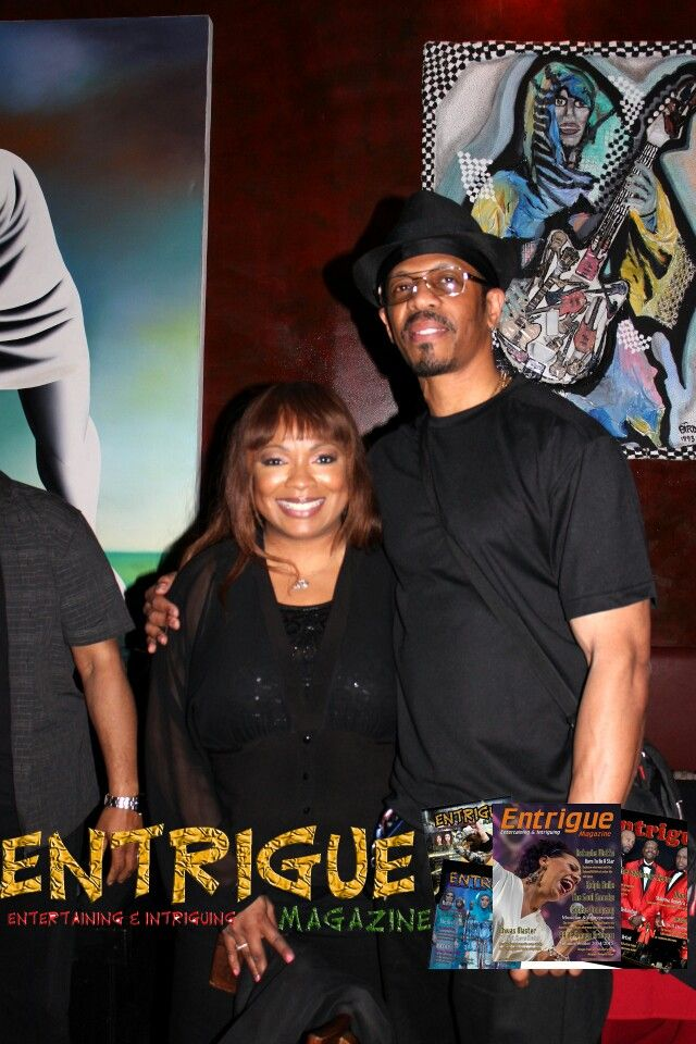 Cheryl Pepsii  Riley  with Entrigue  Magazine's  ClubMaster  Steele