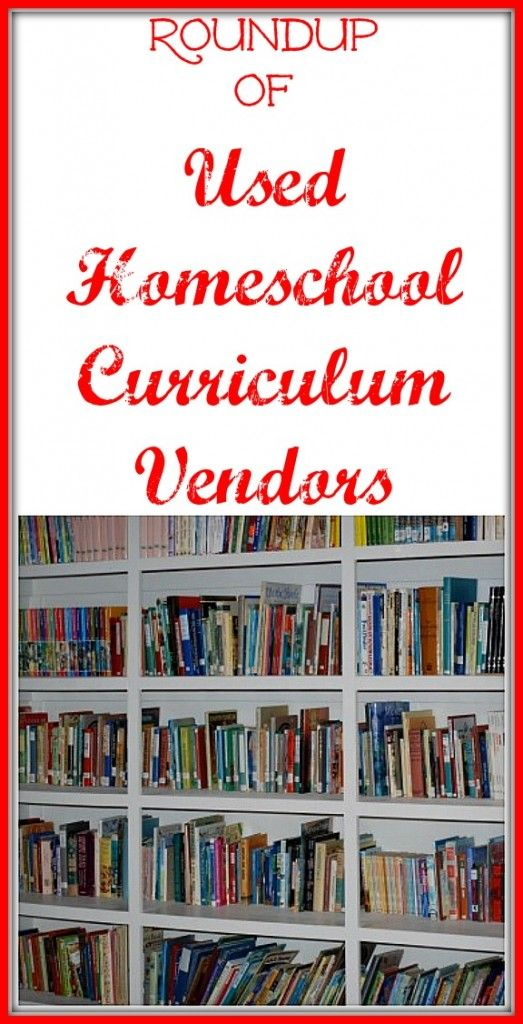 Round-up of places to buy used homeschool curriculum.