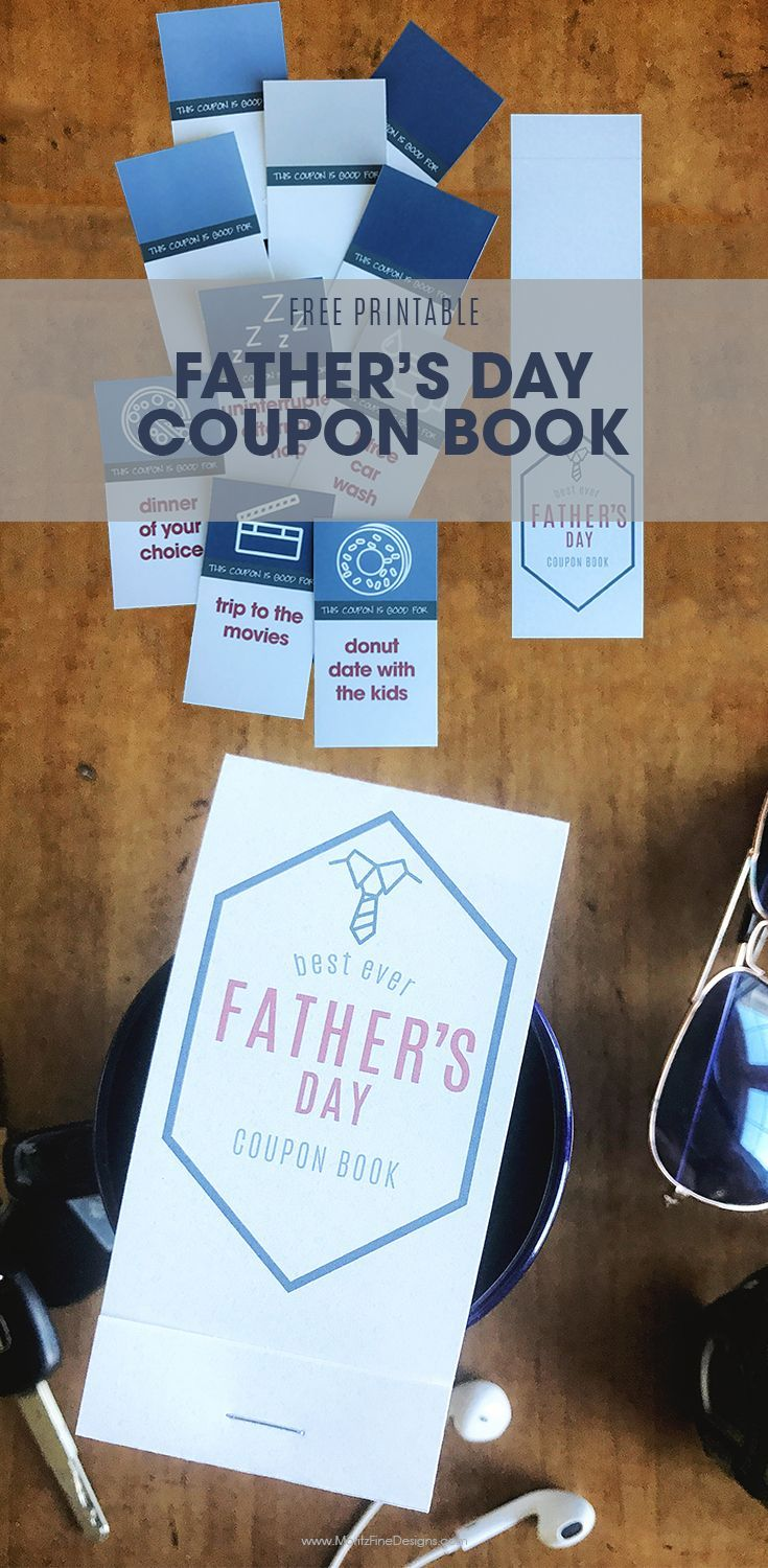 Father S Day Coupon Book Free Printable Diy Father S Day Coupons Coupon Book Easy Father S Day Gifts