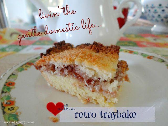 Jenny of ELEFANTZ: Baking an old favourite...Raspberry Coconut Slice